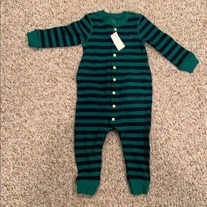 Gap boys 12-18 month striped romper new with tags